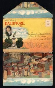 044018 Select Views of BALTIMORE MD Set of 18 vintage views
