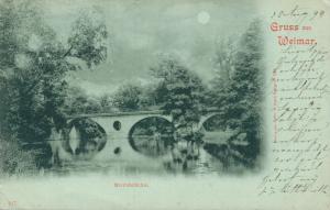 Germany Gruss aus Weimar Sternbrücke Posted 02.02
