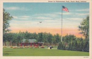 Indiana South Bend Scene In Pottawatomi Park 1943 Curteich