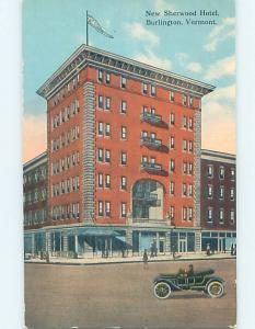 Divided-Back HOTEL SCENE Burlington Vermont VT B4714