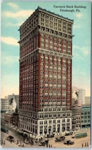 Pittsburgh, Pennsylvania Postcard Farmers Bank Building c1910s Unused
