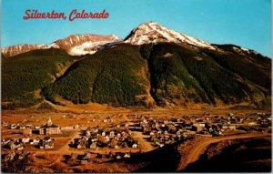 Silverton,CO- AERIAL San Juan County Colorado Bob Petley Chrome Postcard