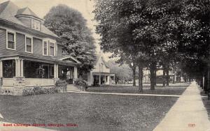 Sturgis Michigan~Big House on East Chicago Street~Shady Sidewalk
