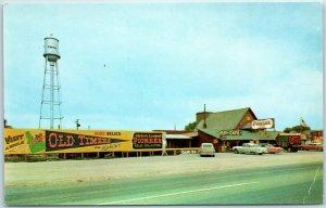 Vintage FIRTH, Idaho Postcard PIONEER VILLAGE Highway 91 Roadside Café c1960s