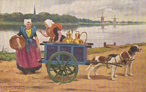 Dog cart , NETHERLANDS , PU-1911