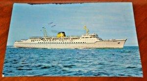 Postcard Hellenic Mediterranean Lines Italy Greece Car Ferry Ship ms Egnatia