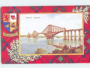 Unused Old Postcard FORTH BRIDGE Edinburgh Scotland UK F5303