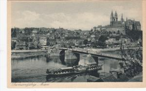 MEISSEN, Saxony, Germany, 1900-1910's; Das Hausendjahrige, Ship Going Under A...