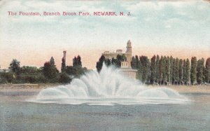NEWARK, New Jersey, 1900-1910's; The Fountain, Branch Brook Park