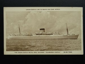 Union Castle Line 'EDINBURGH CASTLE' ROYAL MAIL STEAMER c1930s Postcard