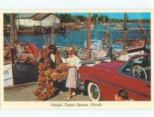1950's OLD CAR BY THE SPONGES Tarpon Springs - Near Tampa Florida FL E7125