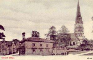 EDENSOR VILLAGE DERBYSHIRE ENGLAND VIEW OF ST. PETER'S CHURCH