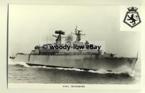 na1487 - Royal Navy Warship -  HMS Devonshire - photograph