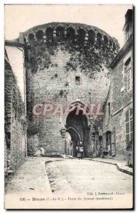 Postcard Old Dinan Gate Jersual Outdoor