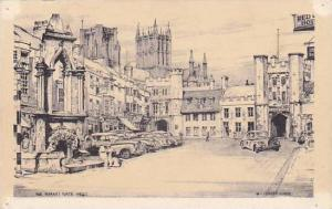AS: The Market Place in Wells, Sommerset, England, United Kingdom, PU-1959