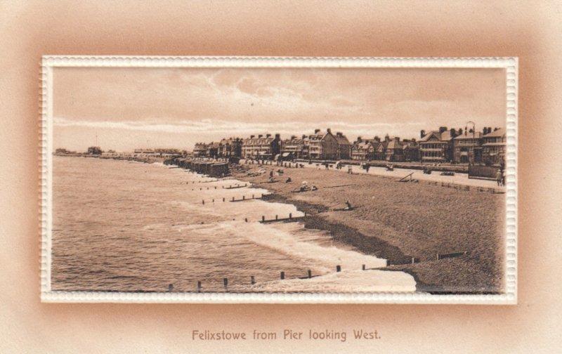 Felixstowe , England , 00-10s ; From Pier , Looking West
