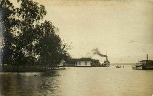 indonesia, BORNEO PONTIANAK, Kalimantan, River Scene (1910s) RPPC Postcard