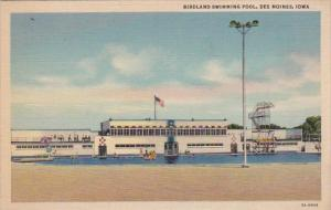 Iowa Des Moines Birdland Swimming Pool 1939 Curteich