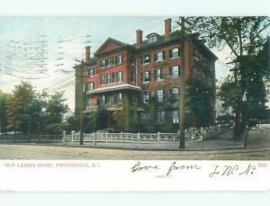 Pre-1907 OLD LADIES HOME Providence Rhode Island RI n6118