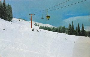 Tod Mountain Ski Resort, Chairlift, KAMLOOPS, British Columbia, Canada, PU-1965