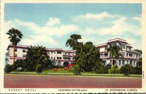 Florida St Petersburg Sunset Hotel Curteich