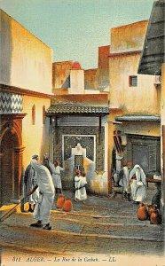 ALGER ALGERIA AFRICA~LA RUE de la CASBAH~TINTED LL PHOTO POSTCARD