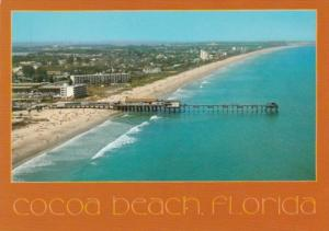 Florida Cocoa Beach Aerial View Showing Fishing Pier