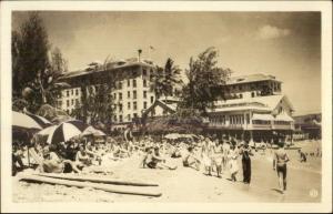 Honolulu HI Waikiki Beach Hotels Real Photo Postcard