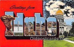 Linen Idaho, USA Postcard Post Cards unused