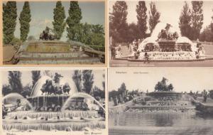 Copenhagen Denmark The Gefion Fountain 4x Old Postcard s