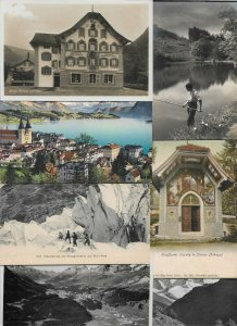 Switzerland Gersau Rigi Dossen St Gallen and more Postcard Lot of 20 01.12