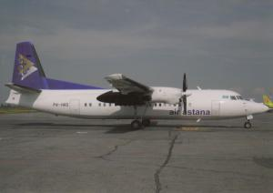 AIR ASTANA, Fokker 50, unused Postcard
