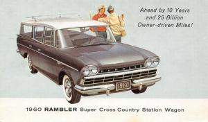 Automobile~Rambler Super Cross Country Station Wagon~Artist Conception~1960 Adv