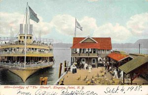 Steamer Albany Kingston Point New York 1908 postcard