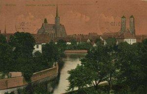 poland, WROCŁAW BRESLAU, Dominsel mit Kreuzkirche (1911) Postcard