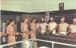 Serving Line in Mess Hall, Fort Hood, Texas, 40-60s