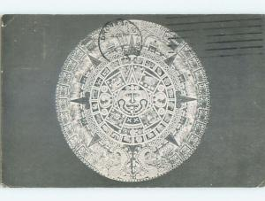 Postcard Of Aztec Calendar At Planetarium New York City NY W6456