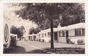 Florida Winter Park Lake Shore Motor Court 1944 Real Photo RPPC
