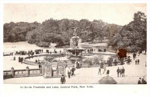 New York City   central park Fountain and Lake