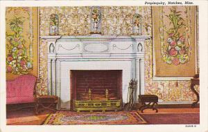 Mississippi Natchez Fireplace At Propinquity Built 1790s Curteich