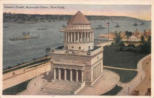 Grant's Tomb, Riverside Drive, Manhattan, New York, early postcard, used