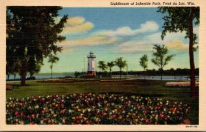 Wisconsin Fond du Lac Lighthouse At Lakeside Park Curteich