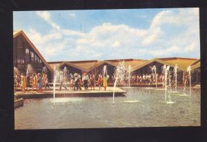 OKLAHOMA CITY OKLA. ROUTE 66 NATIONAL COWBOY HALL OF FAME VINTAGE POSTCARD