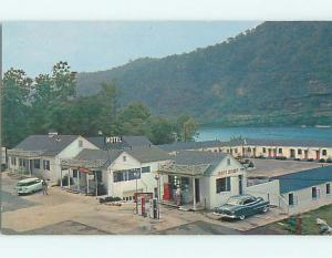 Unused 1950's GAS STATION &GIFT SHOP & EDGEWATER MOTEL Gauley Bridge WV u7521-26