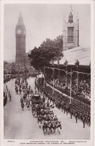 RP, Coronation Procession, Their Majesties Passing The Houses Of Parliament, ...
