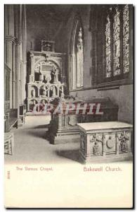 Great Britain Bakewell church Old Postcard The Vernon screed