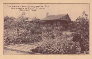 ROCKPORT , Mass. , 1910s ; Newspaper House