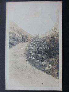 Ireland COACH & HORSE Keim-an-Eigh Pass near Cork & Killarney c1904 RP Postcard
