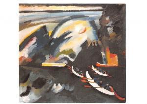 Wassily Kandinsky Kahnfahrt, Promenade en Bateau, Boat Trip Postcard