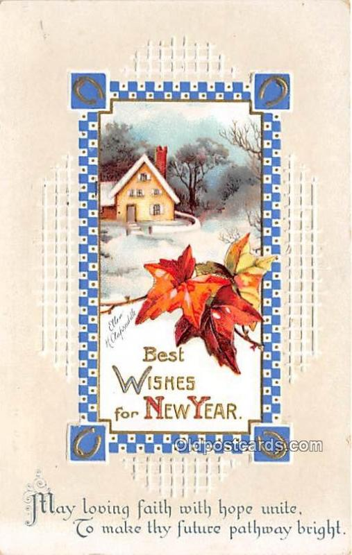 Holiday Postcards New Year, Ellen H Clapsaddle, Series 1583 1913